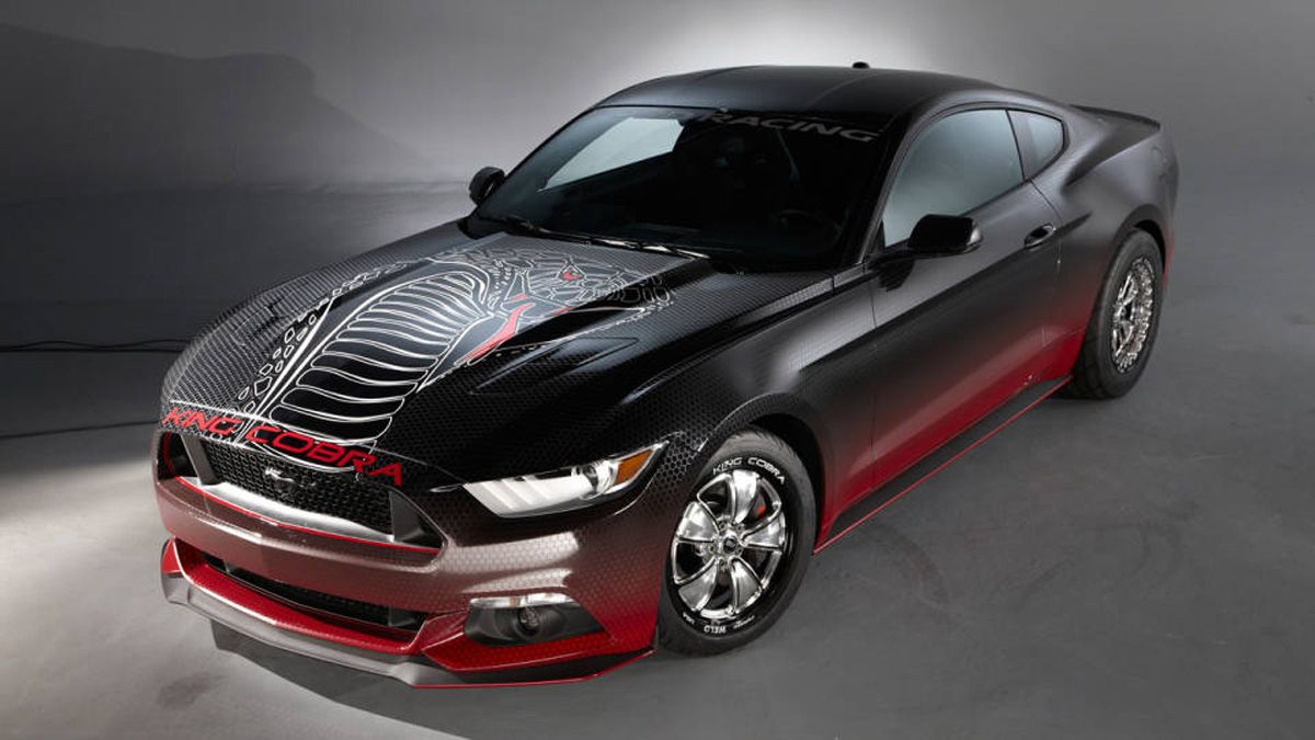 How The 2015 Ford Mustang King Cobra Runs A 10 97 Second Quarter Mile In 2020 Ford Mustang Cobra 2015 Ford Mustang Ford Racing
