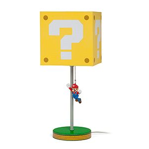 Jumping Super Mario Question Block Lamp Thinkgeek Super Mario