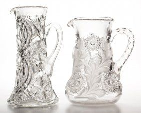 ASSORTED MILLERSBURG PITCHERS, LOT OF TWO  $110