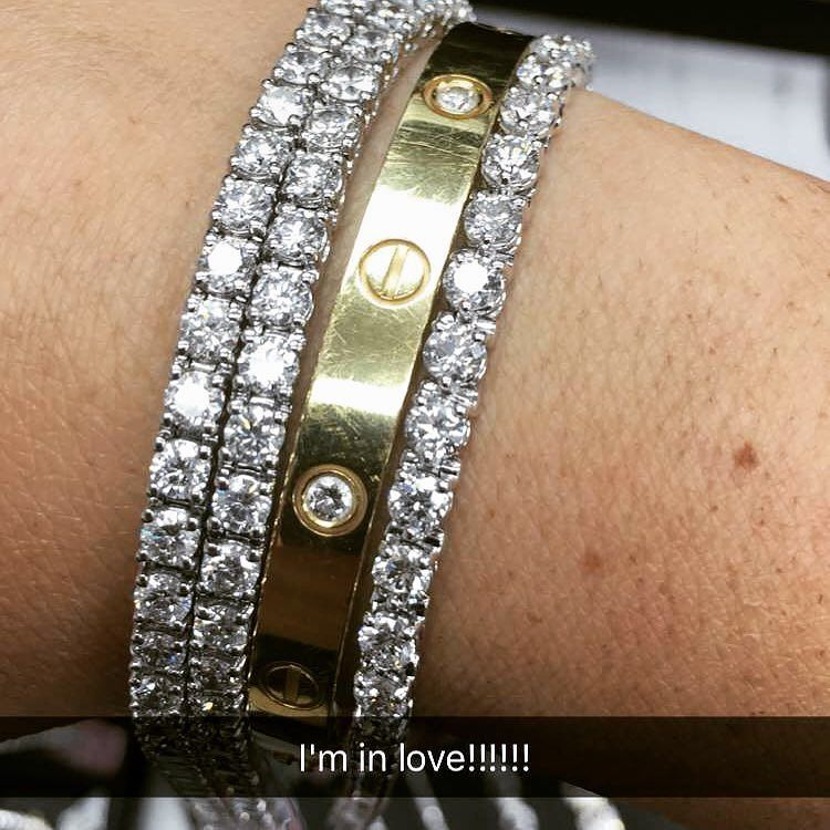 Keep Up To Date With All The Happenings Here At Idj With Snapchat These Diam Tennis Bracelet Diamond Silver Diamond Bracelet Sterling Silver Diamond Bracelets