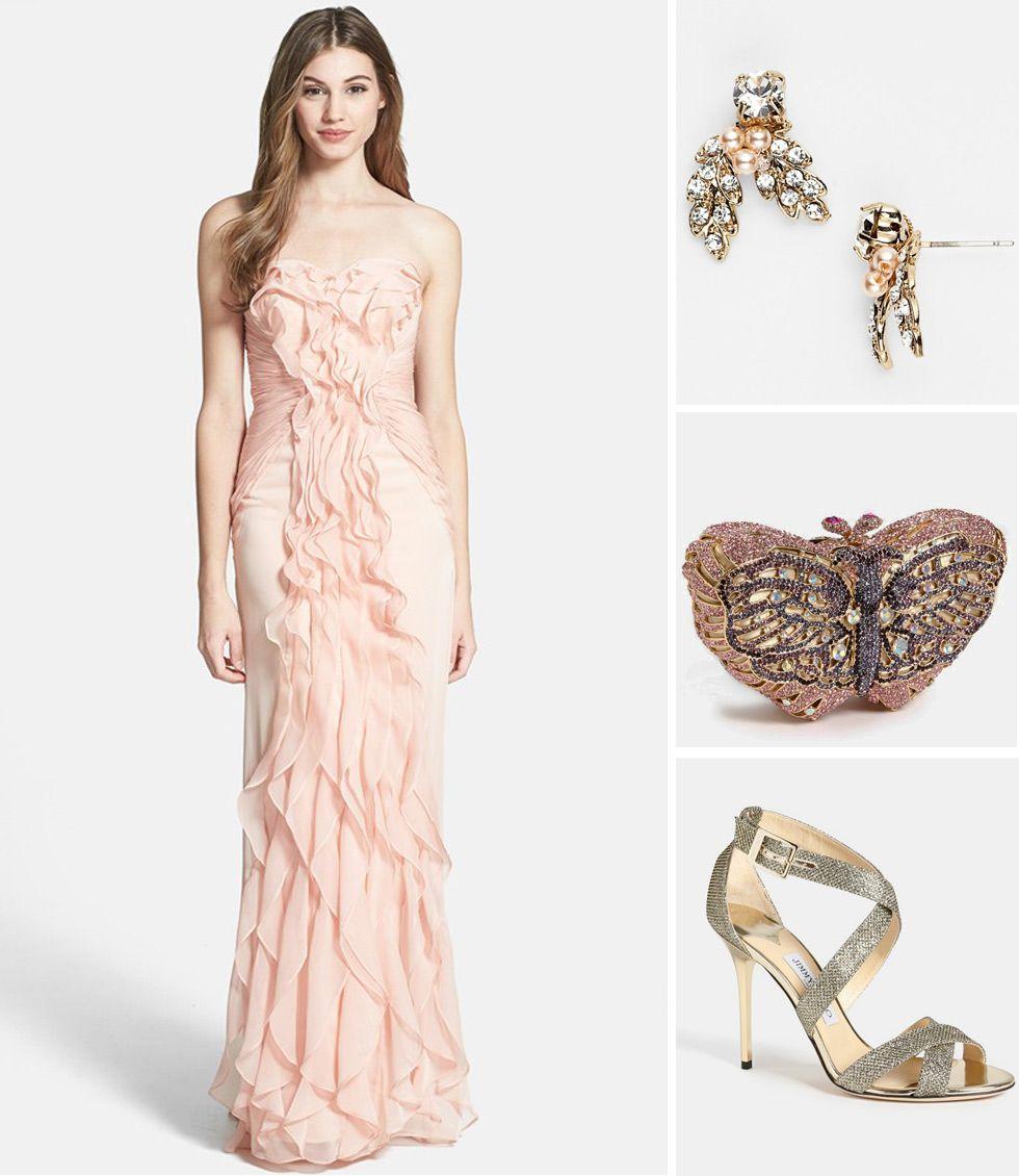 Bridesmaid look we love adrianna papell ruffle dress adrianna bridesmaid look we love adrianna papell ruffle dress ombrellifo Gallery
