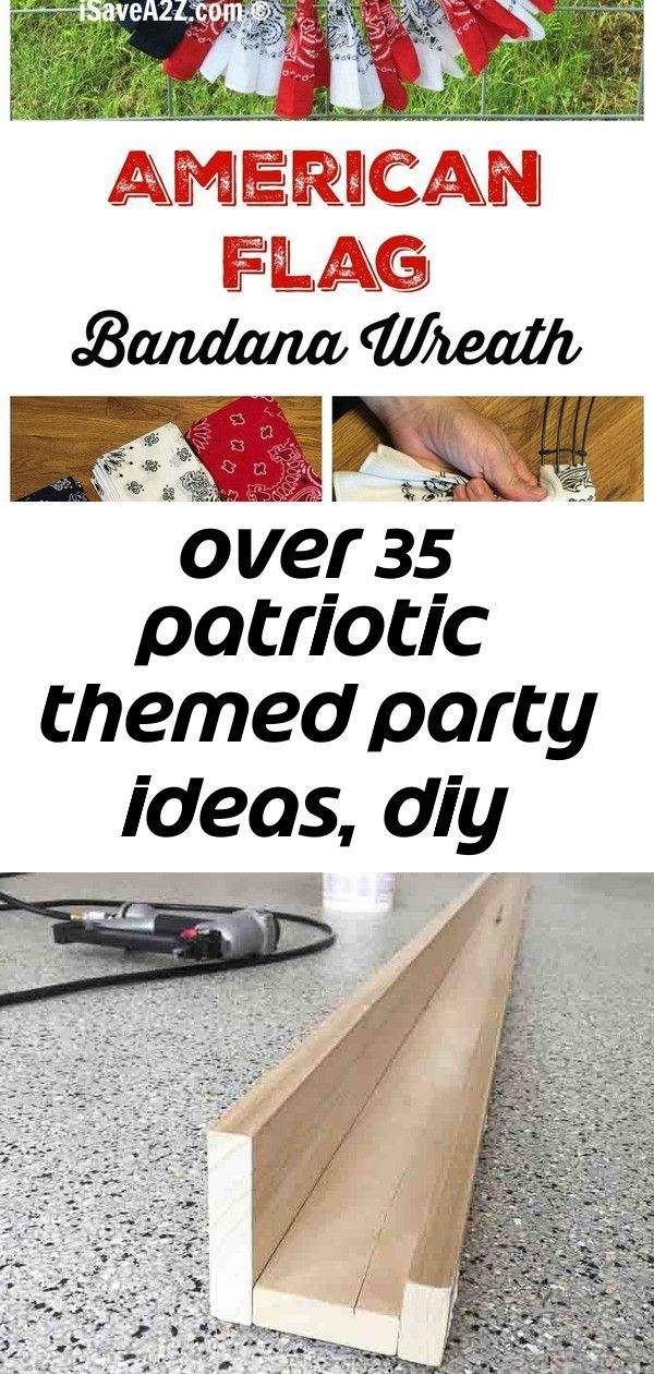 Over 35 patriotic themed party ideas, diy decorations, crafts, fun foods and recipes 4 #labordayfoodideas Tons of Patriotic Party Ideas! Crafts, DIY Decorations, fun food treats and Recipes. Perfect for Memorial Day, Fourth of July and Labor day fun or summer fun - www.kidfriendlythingstodo.com How-to-Make-DIY-Photo-Ledges-Tutorial I'm always picking up interesting frames at the thrift store. Sometimes I just like the frame and not the picture. So what can you do with a picture frame? Here are 1 #labordayfoodideas