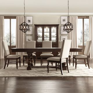Tribecca Home Flatiron Baluster Extending Dining Set 5Piece Set Pleasing Dining Room 5 Piece Sets Design Decoration