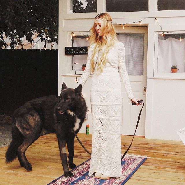 Boho bride. Bohemian wedding. Wolf. Nashville.