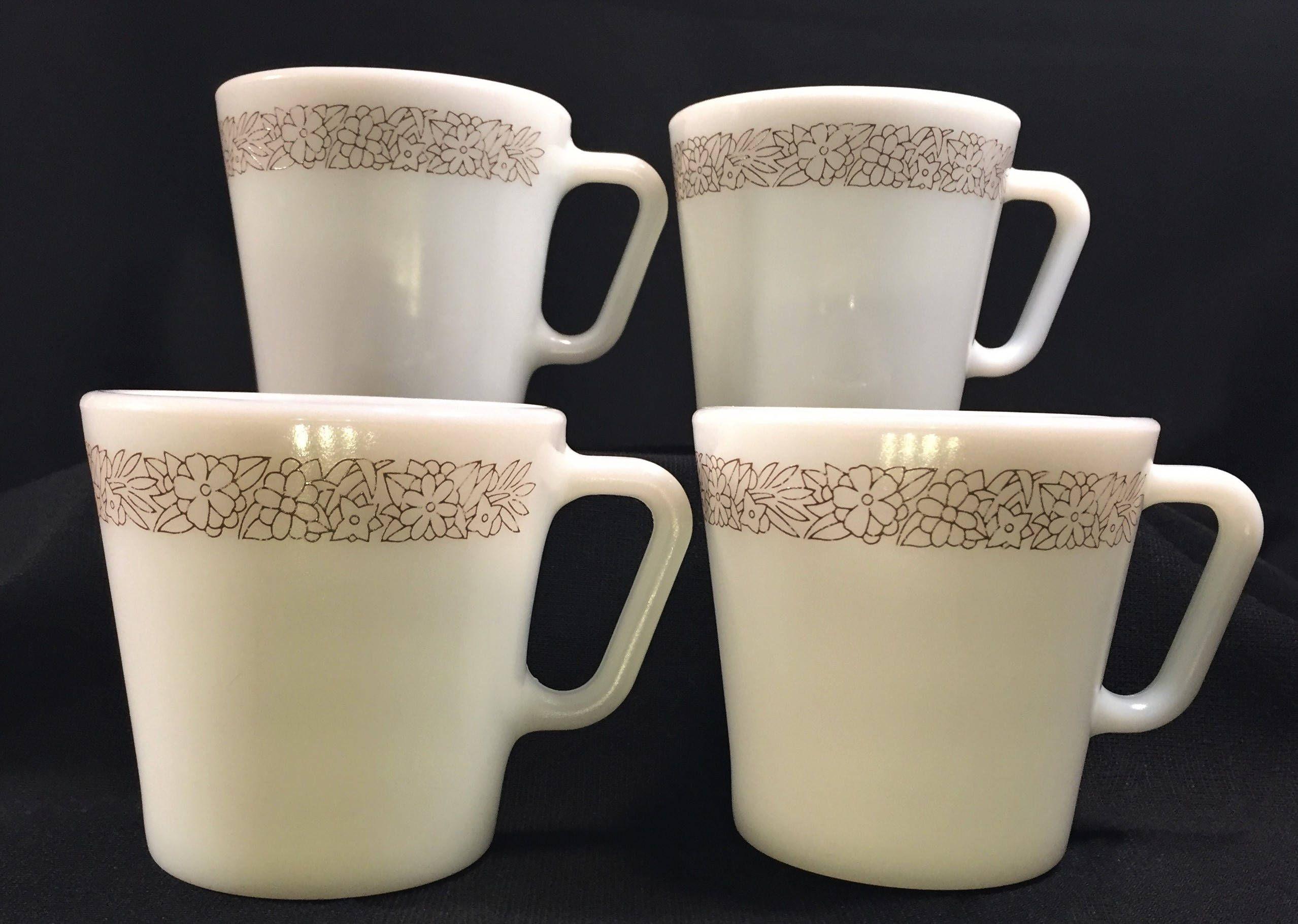 3ed3fd99165 PYREX MUGS, Vintage Pyrex Woodland, D Handled Mugs, Retro Coffee ...