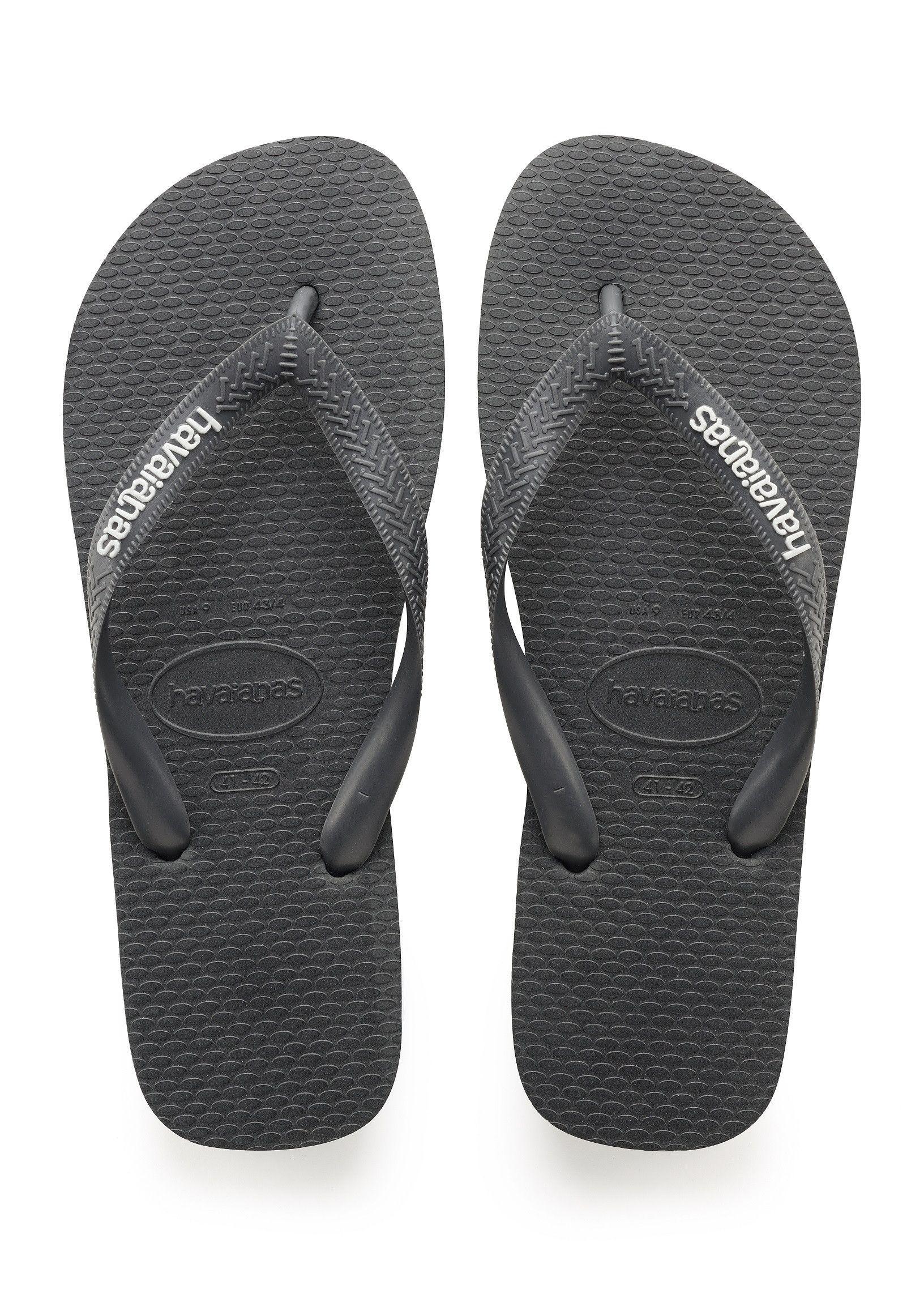 Havaianas Hav Top Unisex Black Gold Rubber Sandal