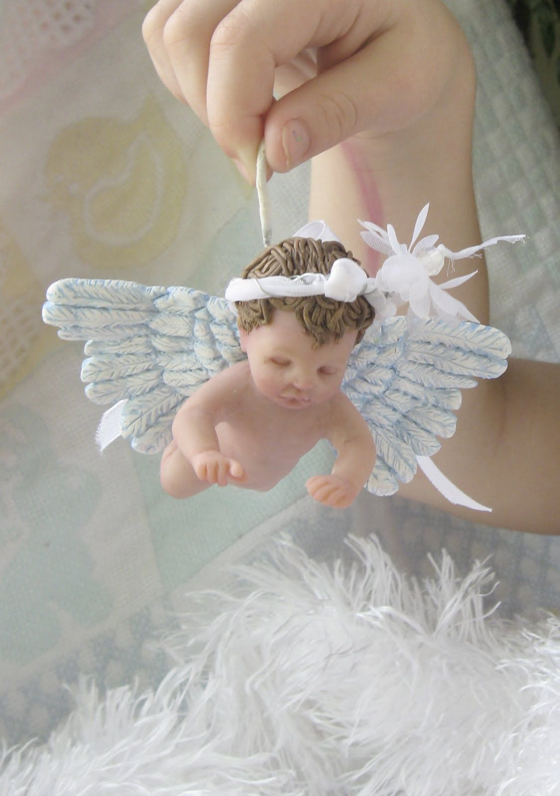 Cute Baby Angel in Heaven | One of a Kind Art by Catherine ...