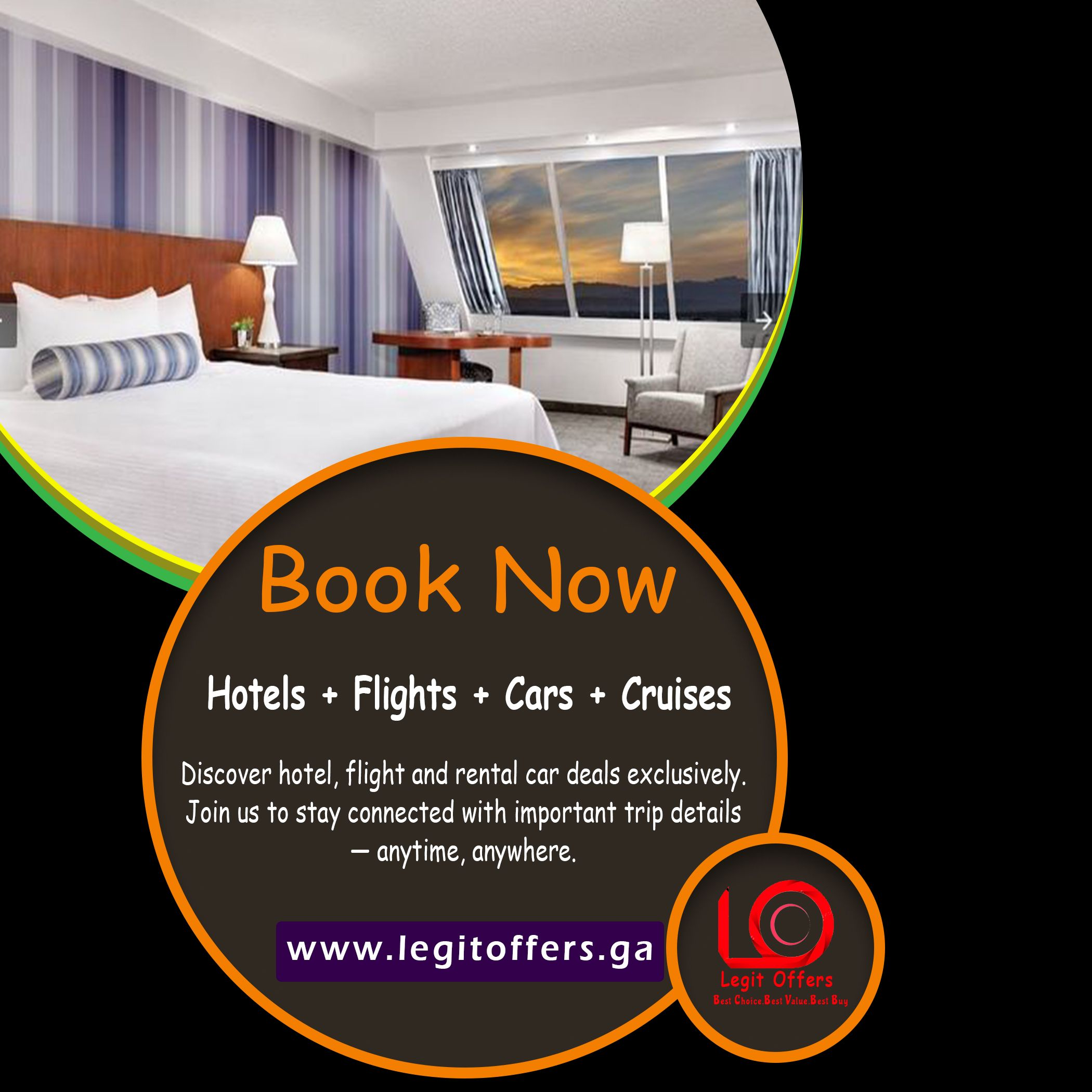 travel booking hotel airplane Discover hotel, flight