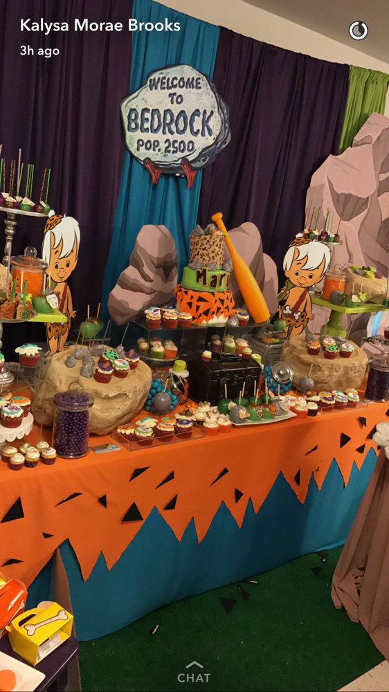 Flintstones Baby Shower Party Ideas | Photo 1 of 10 | Catch My Party #boybirthdayparties