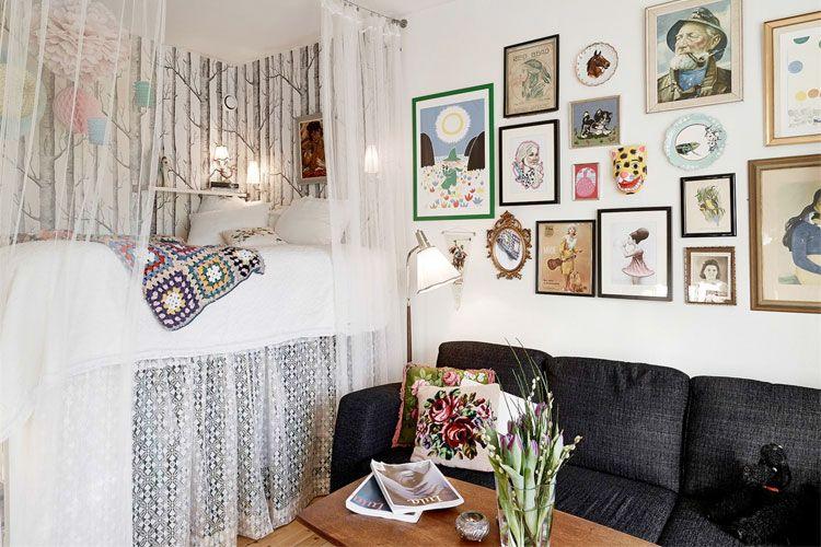 Een studio van 20m2 inrichten? 7 ideeën! interior pinterest