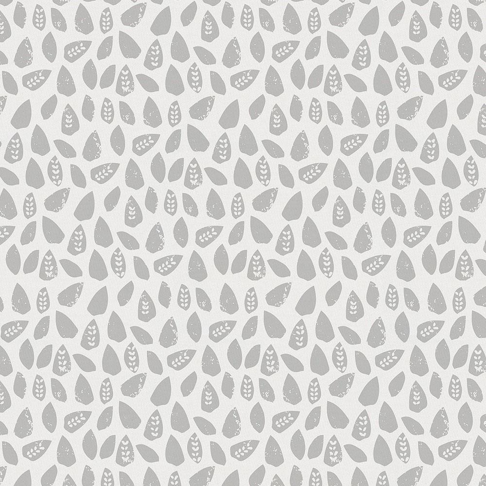 Gray Woodland Leaf Fabric by Carousel Designs.