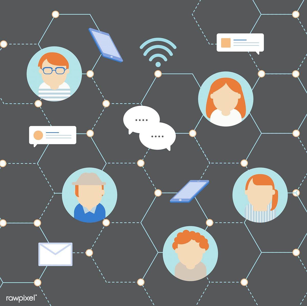 Download premium vector of Vector of social network