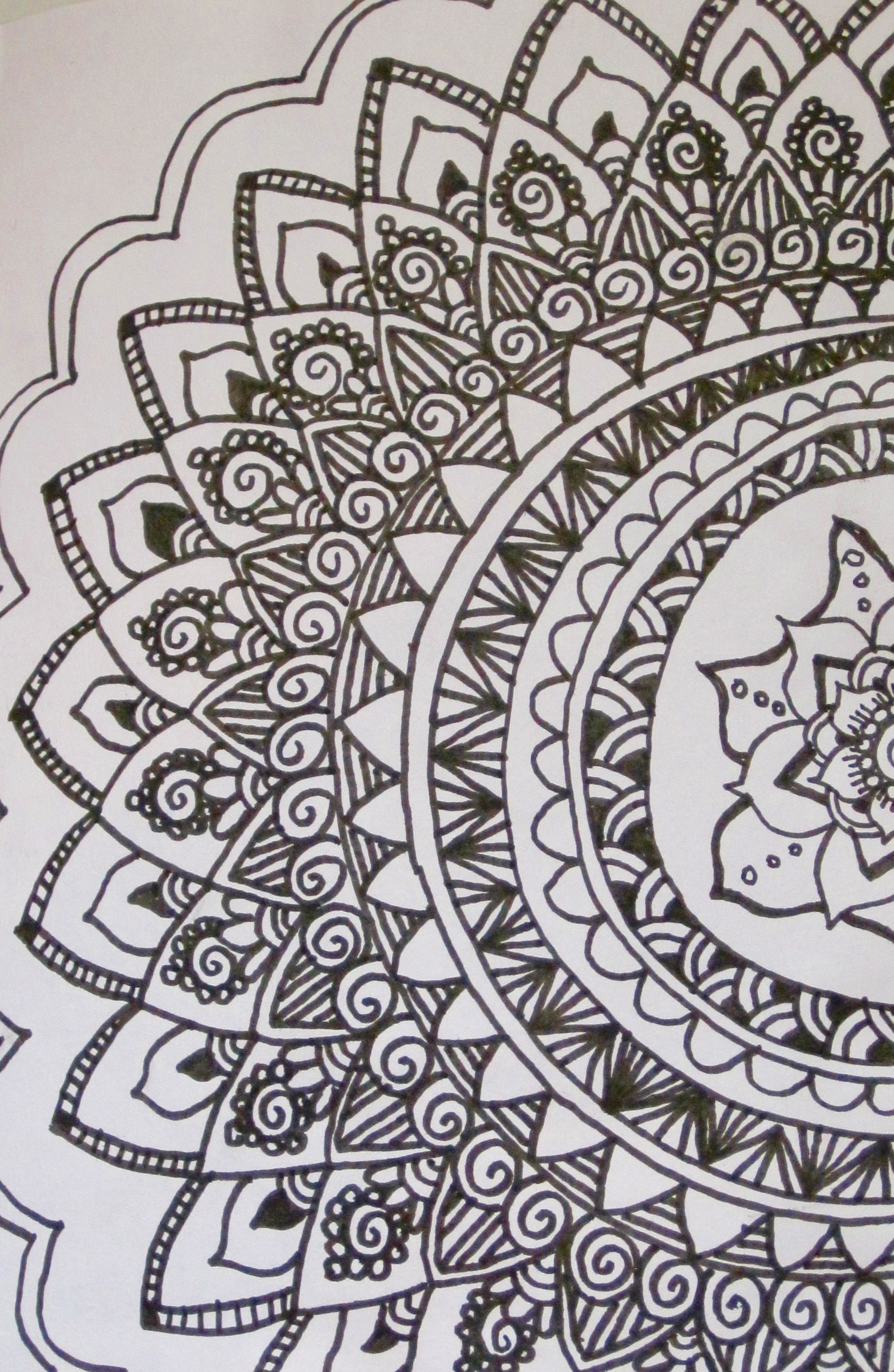 Mandala Zentangle Pattern Design Doodle