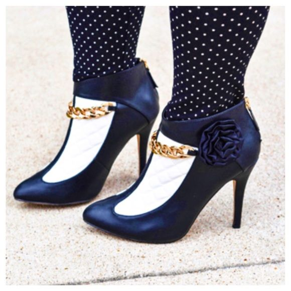 6e6c14b6492d B amp W Ankle Booties Divine, simply divine. Beautiful contrast of black  and white