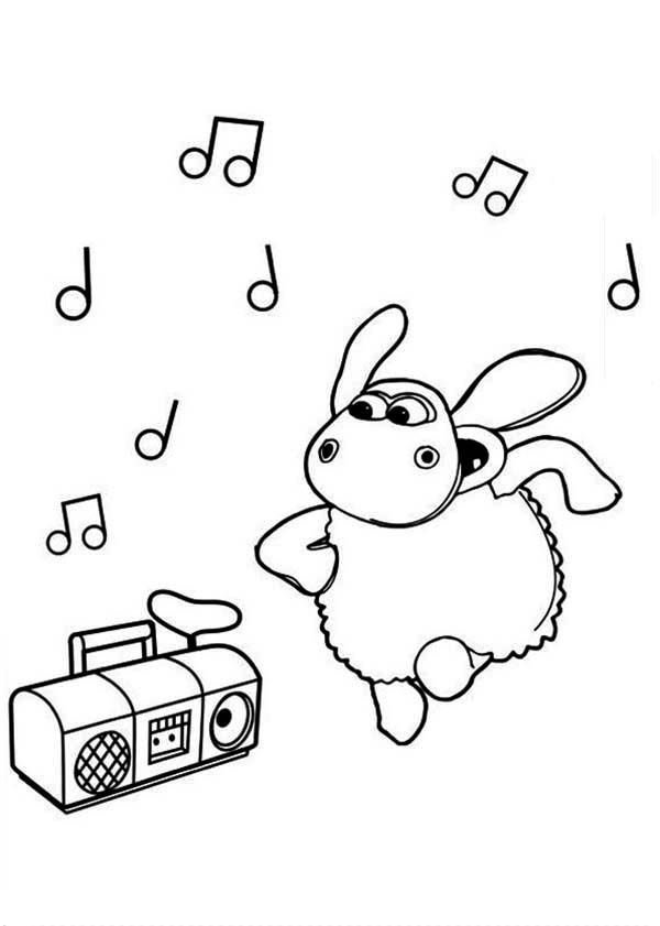 Timmy Dancing While Listening Music From Radio In Timmy Time Coloring Page Coloring Sky Coloring Pages Radio Coloring Pages For Kids