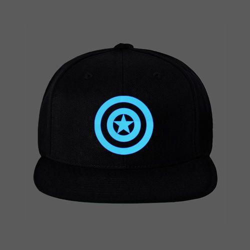 c6c3af71756 Marvel DC Avenger CAPTAIN AMERICA Hat Luminous Glow Snap Back Baseball Cap  ay06