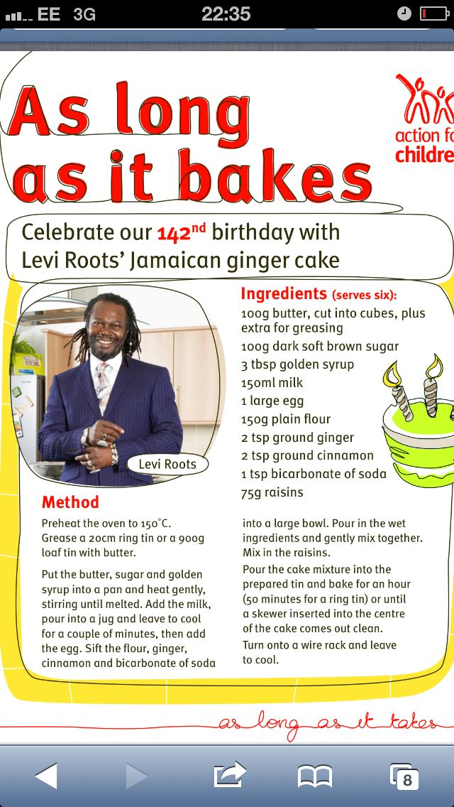 Levi Roots Jamaica ginger cake Food all around the world