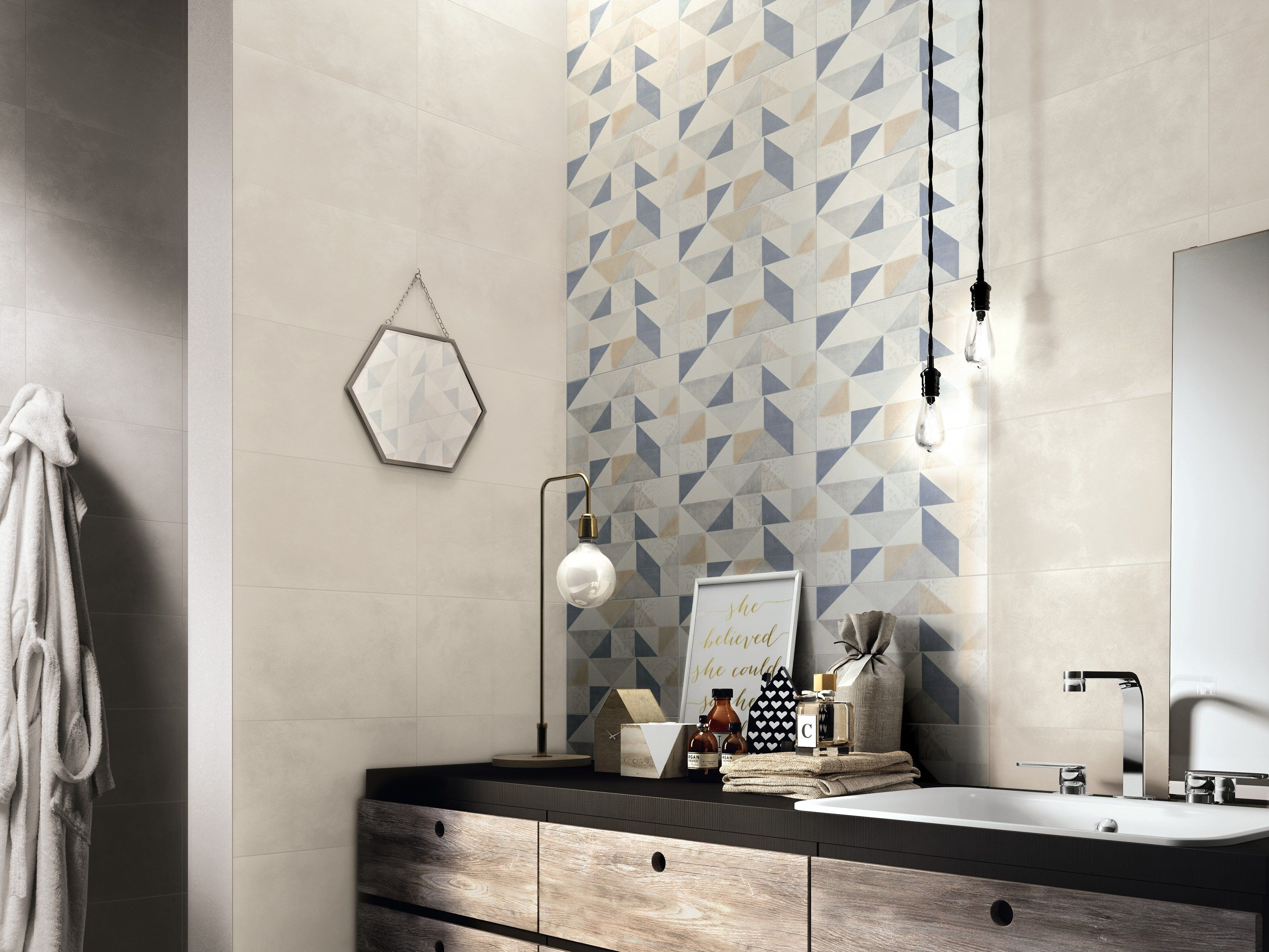 Indoor white-paste wall tiles FEEL by Ragno | Surfaces & Materials ...