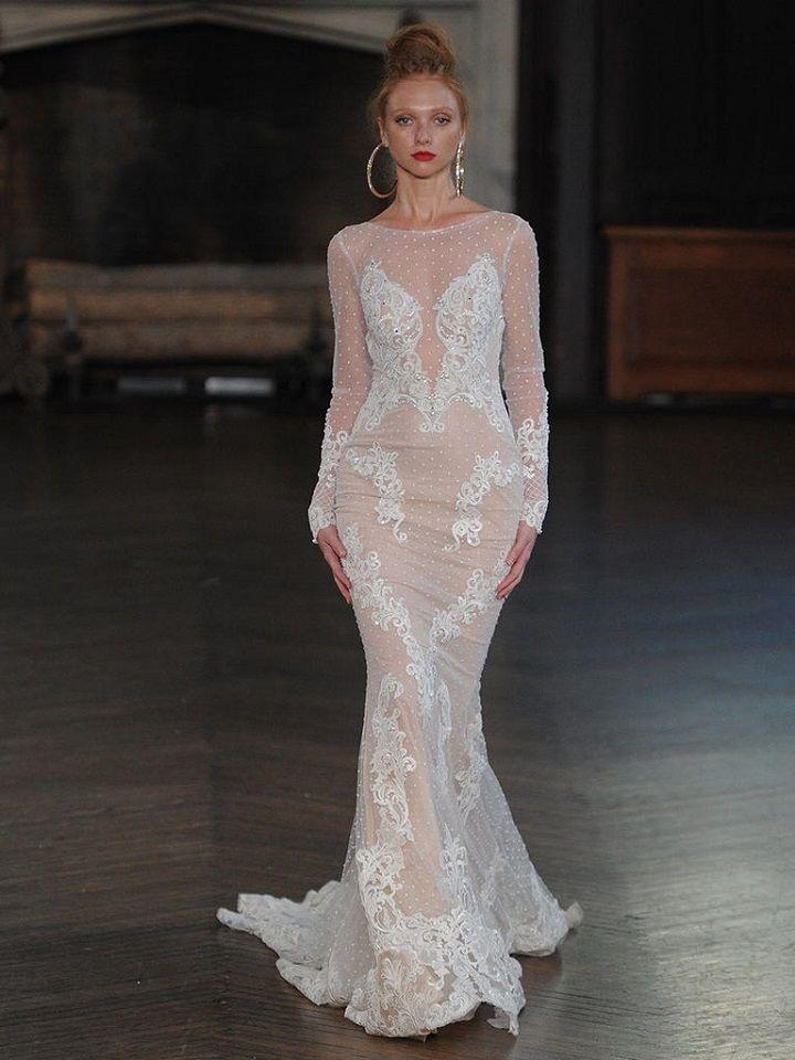 Berta long-sleeve wedding gown | itakeyou.co.uk #wedding #weddingfashion #bridal #weddingdress #weddinggown #bridalgown #weddingdresses #weddinggowns #berta #bridalinspiration #weddinginspiration #engaged