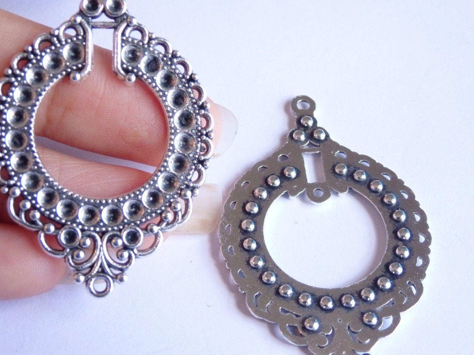 1 58 Gbp 10 Large Charms Pendants Tibetan Silver Jewellery Making