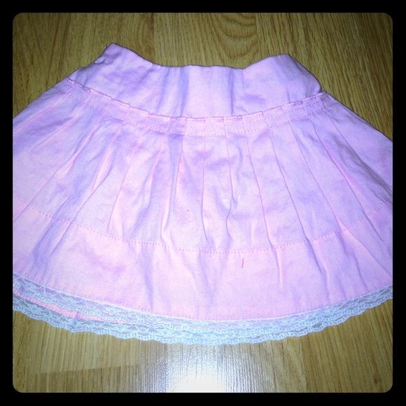 Baby skirt Pink skirt with ruffle under layer and built in diaper cover. 12 months. The Childrens Place Skirts