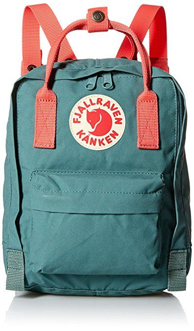 Amazon.com  Fjallraven Kanken Kids Daypack, Frost Green Peach Pink  Clothing 5c45e1baff