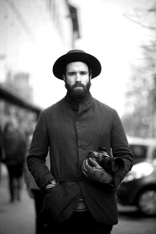 Beard hat coat tumblr Style fashion