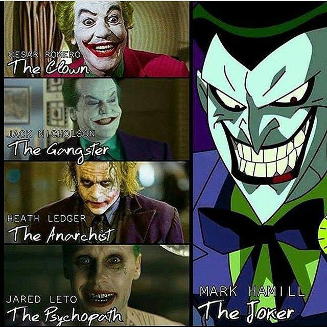 The many faces of Joker