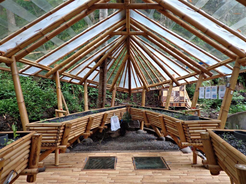 Green School Backyard aquaponics, Aquaponics greenhouse