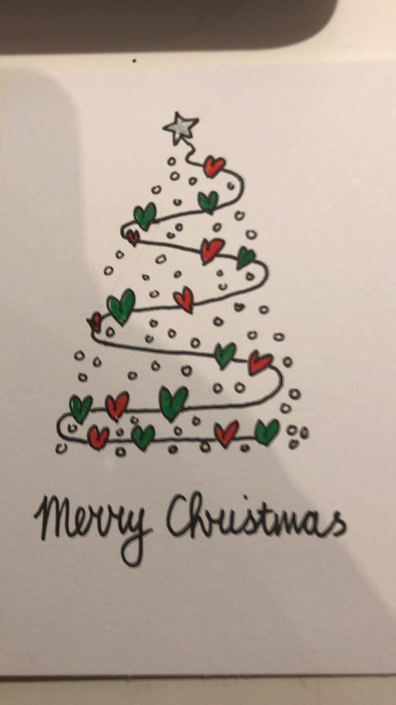 Erfahren Sie, wie Sie einfach einfache handgemachte Weihnachtskarten machen