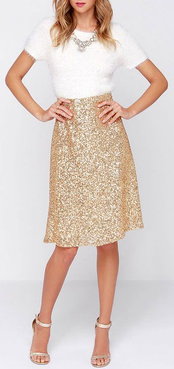 Sequin midi skirt - Sequin Midi Skirt My Style Pinterest Sequins, Clothes And