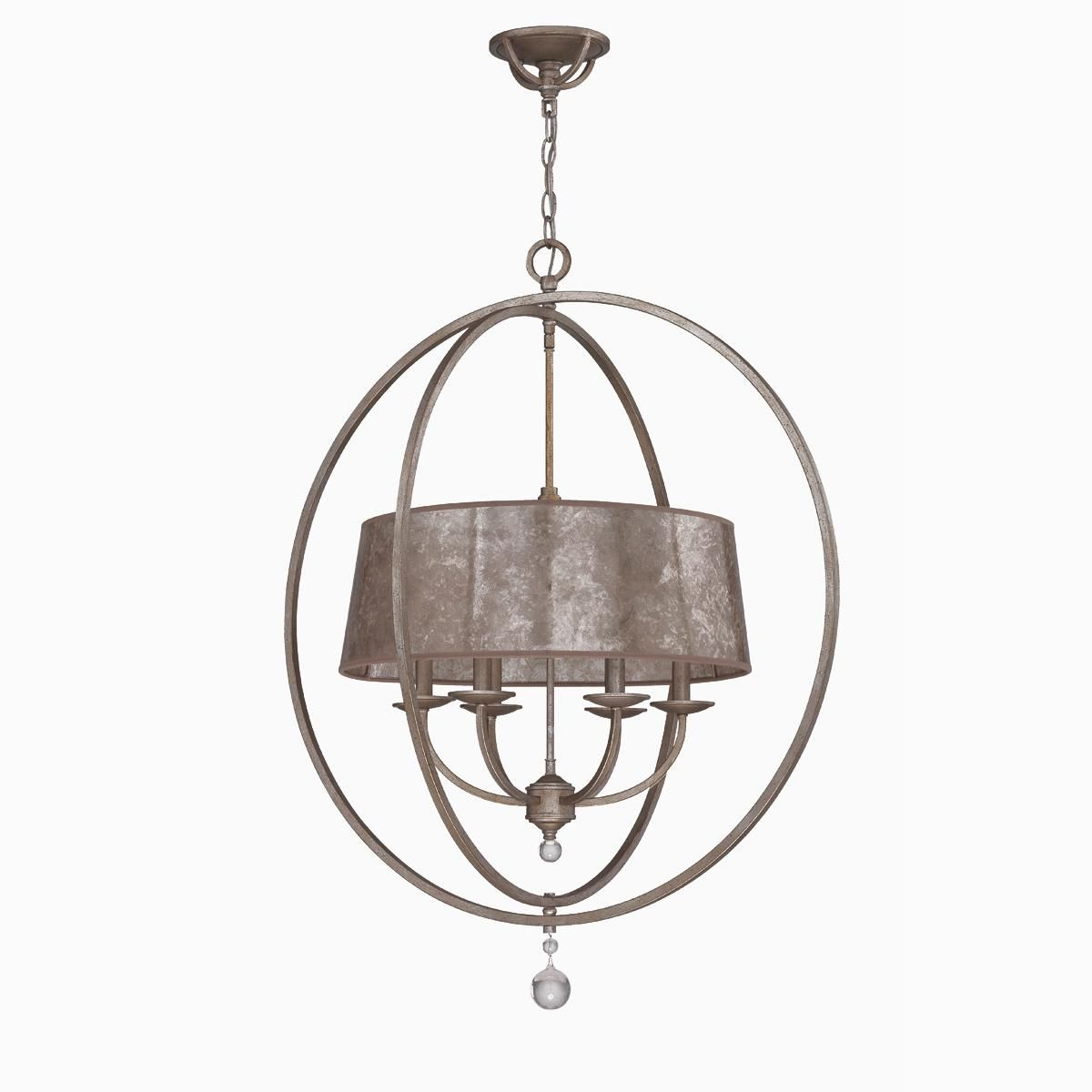 small mica drum shade and rings chandelier bathroom pinterest