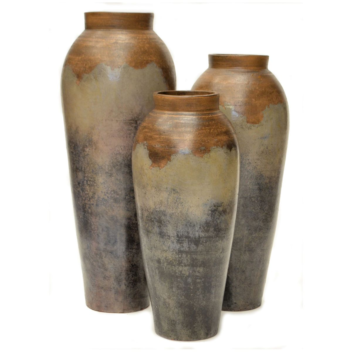 Joaquin Gray Vases Set Of 3 In 2020 Large Floor Vase Vase