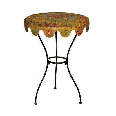 Metal Floral Side Table