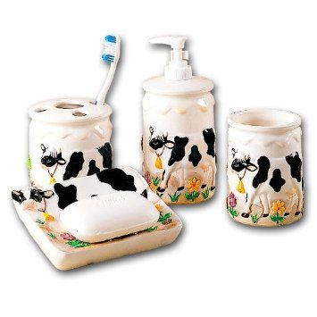 Cow Bathroom Bath Set