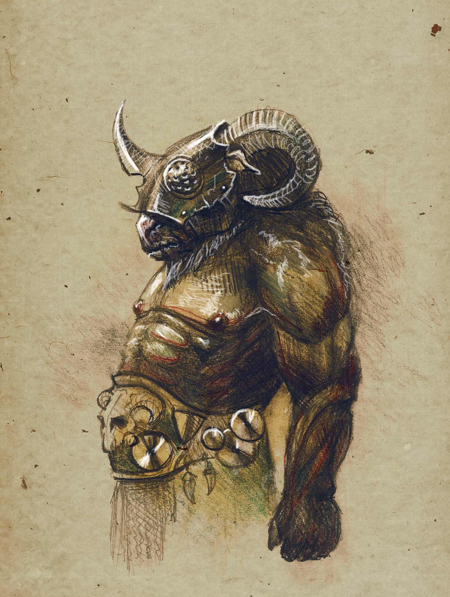 Beastman Par Denis Kornev Fanart D D Monsters In 2019