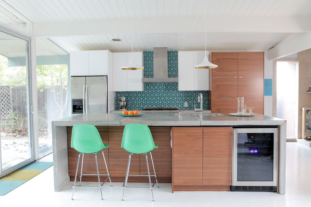16 Charming Mid Century Kitchen Designs That