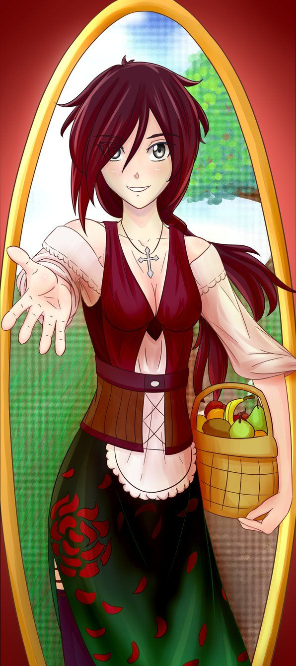 Ruby as the Spring Maiden  Other RWBY Maidens: | Anime Art