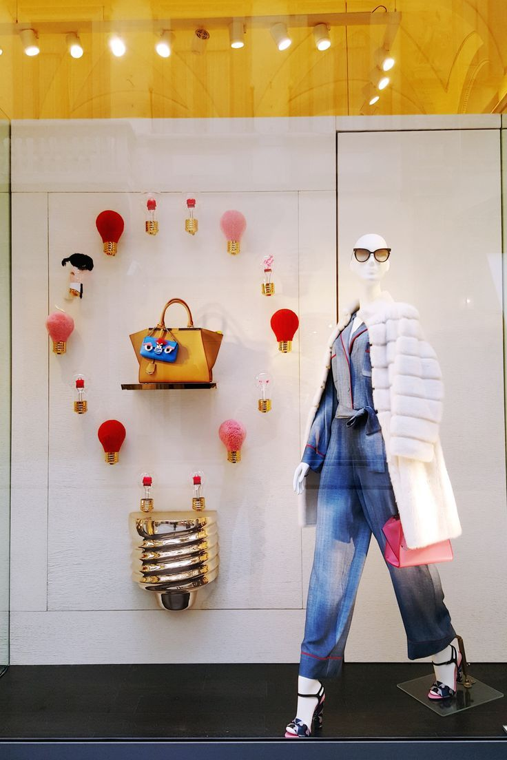 Fendi ID-ea Capsule Collection Shop Window in Florence.