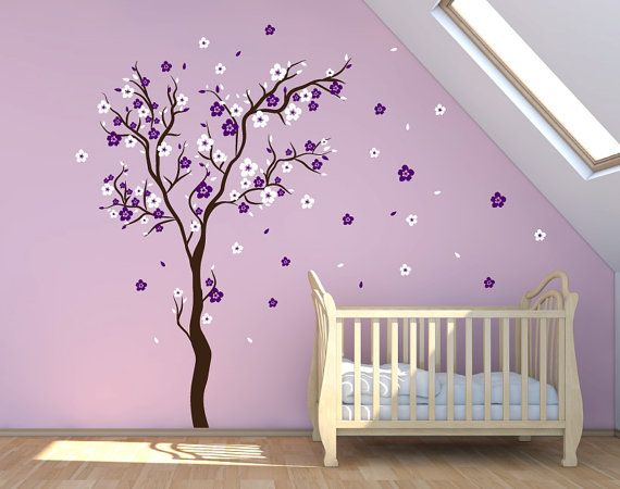 stick on wall art cherry blossom wall decal wall sticker decals baby