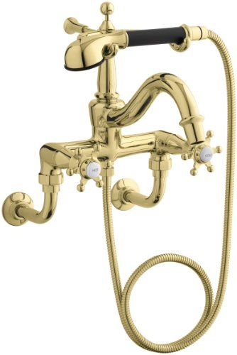 Purist Floor Mount Bath Faucet With Handshower Freestanding Tub