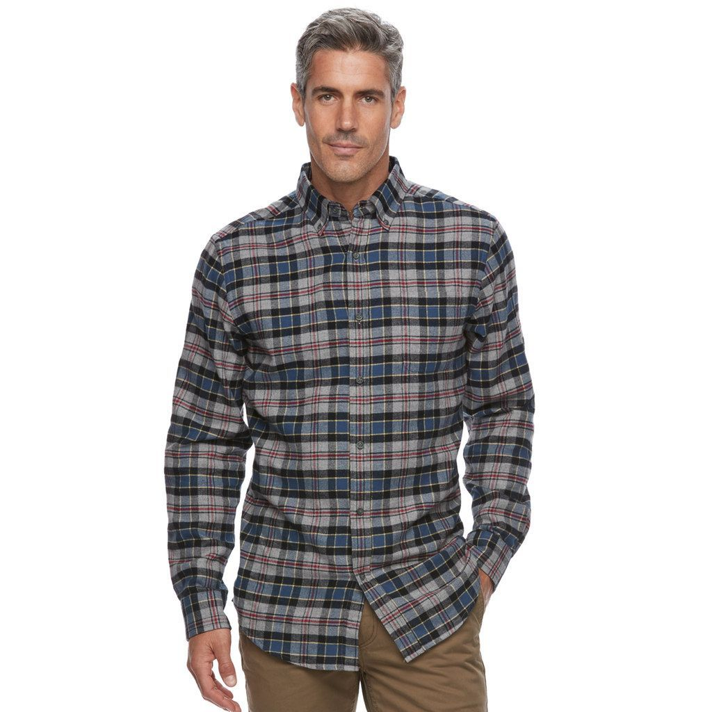 1550dfadfea Men s Croft   Barrow® True Comfort Plaid Slim-Fit Flannel Button-Down Shirt
