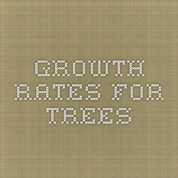Growth rates for trees