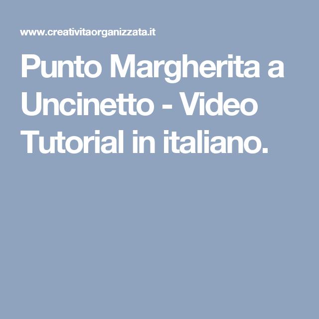 Punto Margherita A Uncinetto Video Tutorial In Italiano