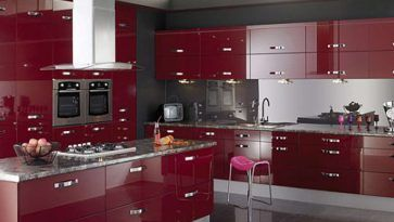 Red Paint For Kitchen High Gloss Doors