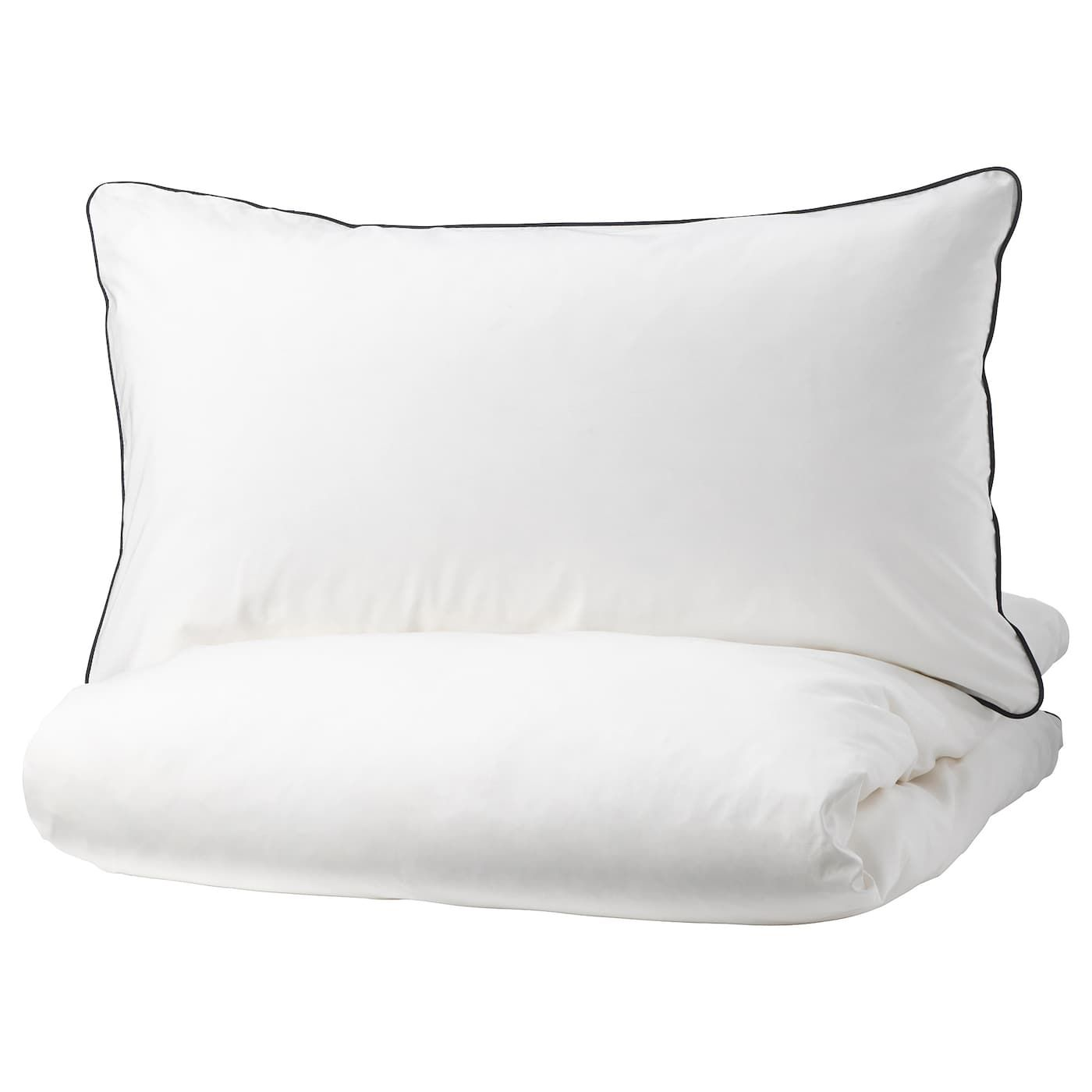 Ikea Kungsblomma Duvet Cover And Pillowcase S White Gray Housse De Couette Draps De Luxe Et Couette
