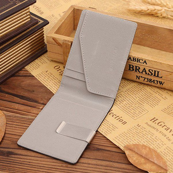 Leather Wallet and Money Clip
