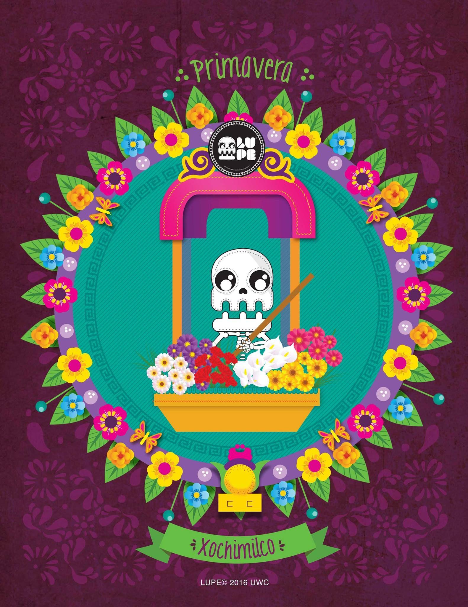 Xochimilco Dia De Muertos Amor Por Mexico Y Imagenes De Calavera