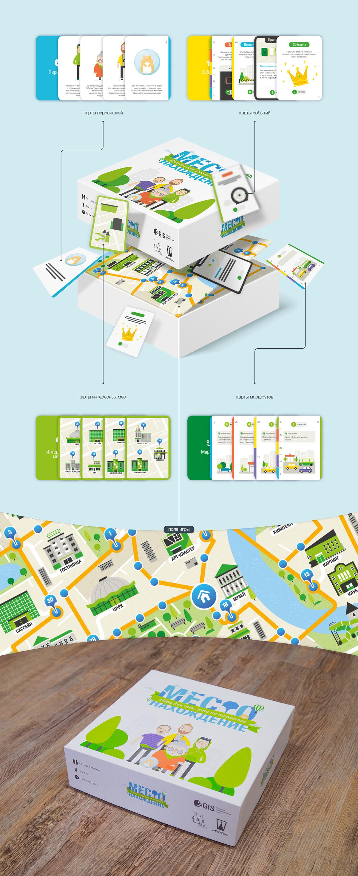 Game 2GIS on Behance Дизайн упаковки, Игровой дизайн