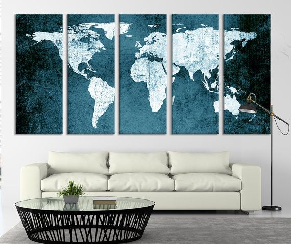 Hey, I found this really awesome Etsy listing at https://www.etsy.com/listing/254587700/green-world-map-turquoise-grunge-wall